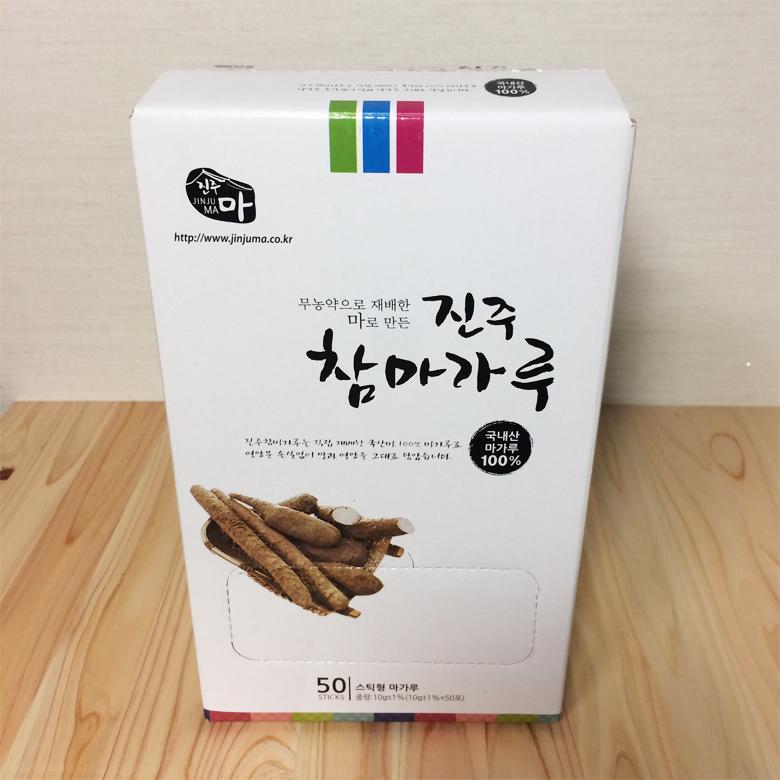 진주참마가루 껍질벗긴 (100%국내산 무농약 마가루) 스틱 (10g*50포)2박스