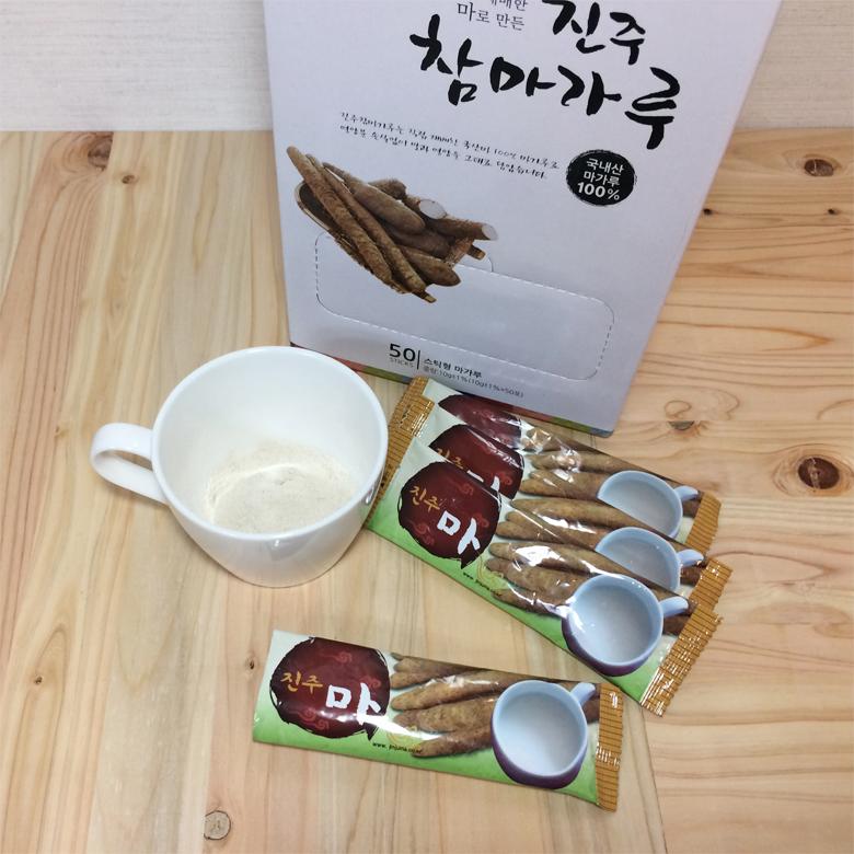 진주참마가루 (껍질벗긴(100%국내산 무농약 마가루) 스틱 (10g*50포)1박스